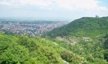 Гледка към паметника 1300 години България и град Шумен