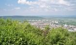 гледка към Шумен от пеметник Създатели на българската държава