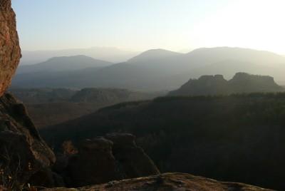 Панорама, преди слънцето да залезе