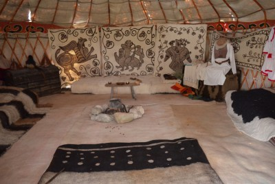 Възстановка на ханска шатра - Старата Плиска