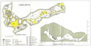 Карта на пещерата Съева дупка
