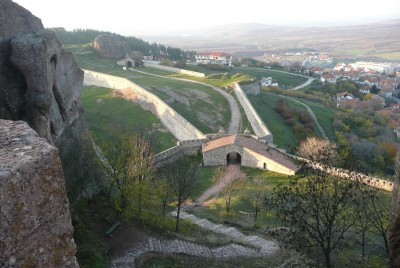 От вътрешната страна на крепостта