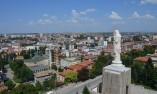 "Панорамна гледка към Хасково и монумента ""Света Богородица"""