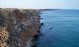 Пейзаж към отсечените скали на север