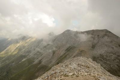Изглед от Вихрен към Кончето