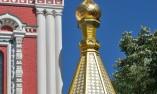 """Един от златните върхове на храма """"Рождество Христово"""" - Шипка"""