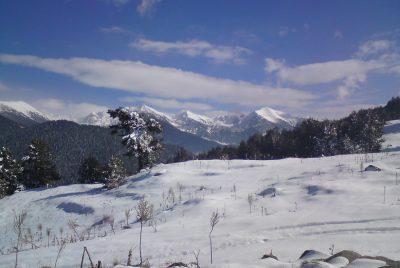 Сред планините през зимата
