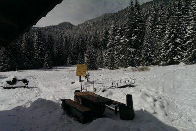 Околностите на хижа Ловна през зимата
