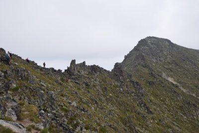 поглед към Иречек от изкачването на Малка Мусала